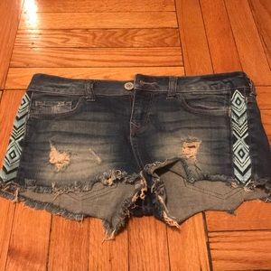 Express distressed jeans with embroidery